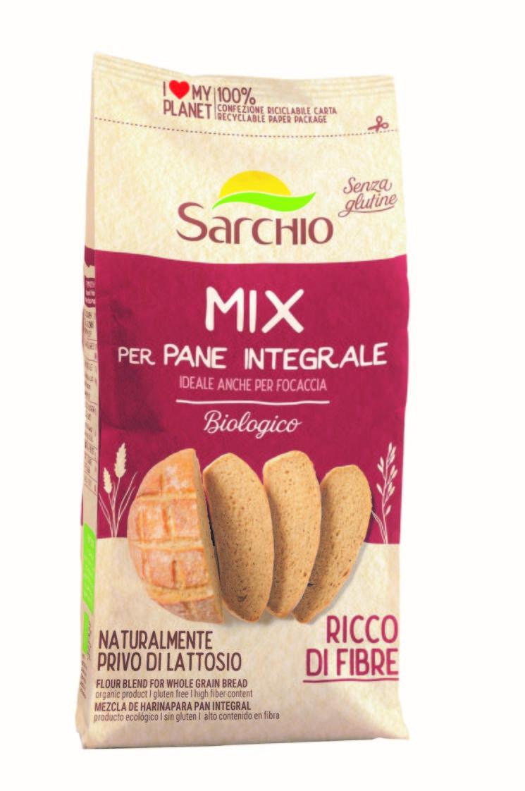 Sarchio: 3 nuovi Mix biologici e gluten free