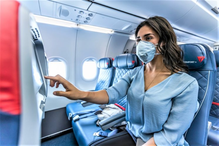 Con Delta Air Lines maggior distanziamento a bordo fino a gennaio 2021