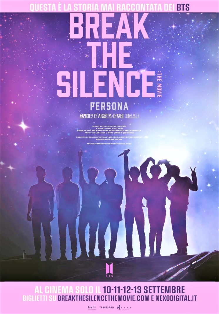 "Nuovo film dei  BTS ""BREAK THE SILENCE: THE MOVIE"", nei cinema di tutto il mondo dal 10 al 13 settembre"