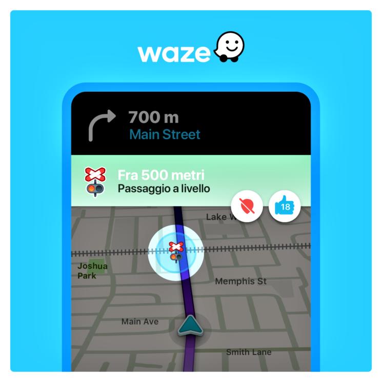 """Waze: al via l'avviso """"Passaggio a Livello"""" in tutto il mondo"""