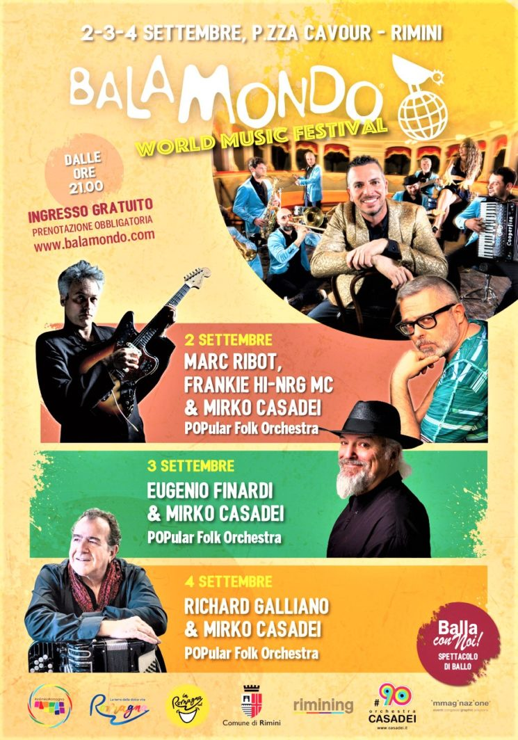Balamondo World Music Festival a Rimini dal 2 al 4 settembre