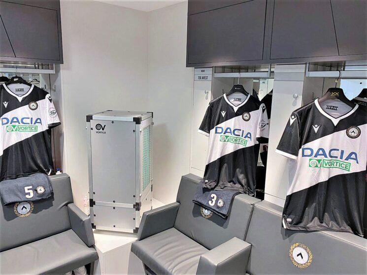 VORTICE per il benessere dei giocatori dell'Udinese Calcio