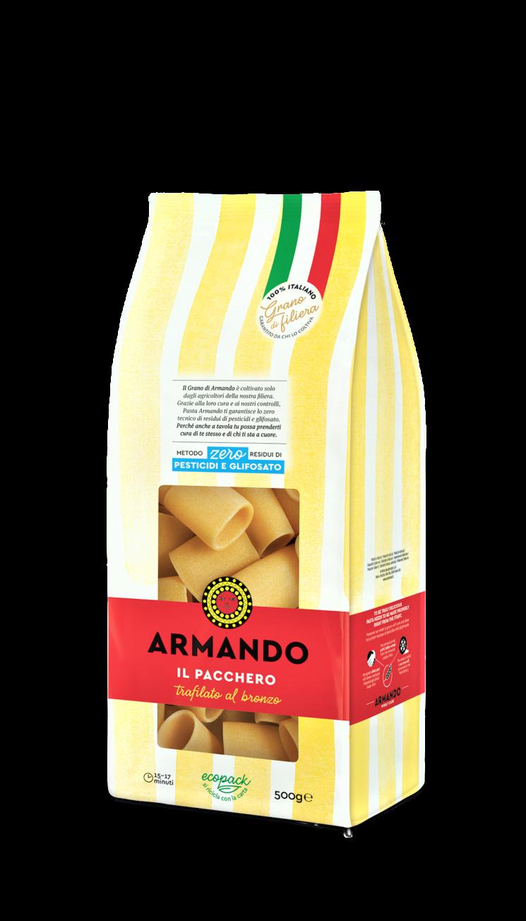 Pasta Armando: la pasta di grano di filiera 100% italiano certificata Metodo Zero residui di pesticidi e glifosato
