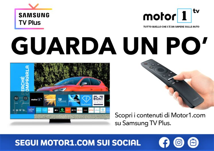 Nasce Motor1TV, ora disponibile su Samsung TV Plus