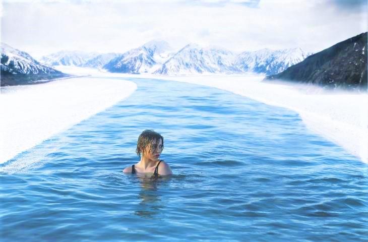 Nuotare in acque fredde aiuta a stare meglio