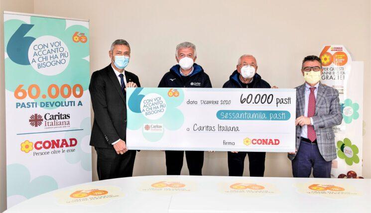 Conad Nord Ovest dona 60 mila pasti alla Caritas