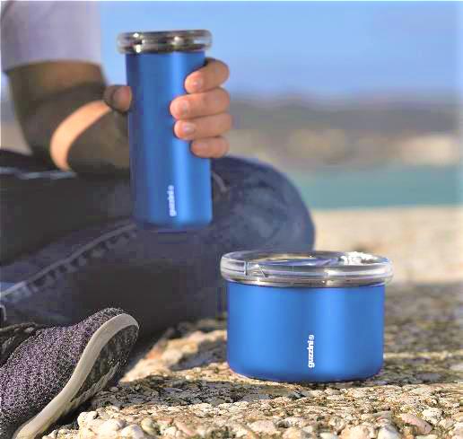 Da Guzzini un regalo originale e utile: Tazza Termica da Viaggio e Lunch Box Termico Energy