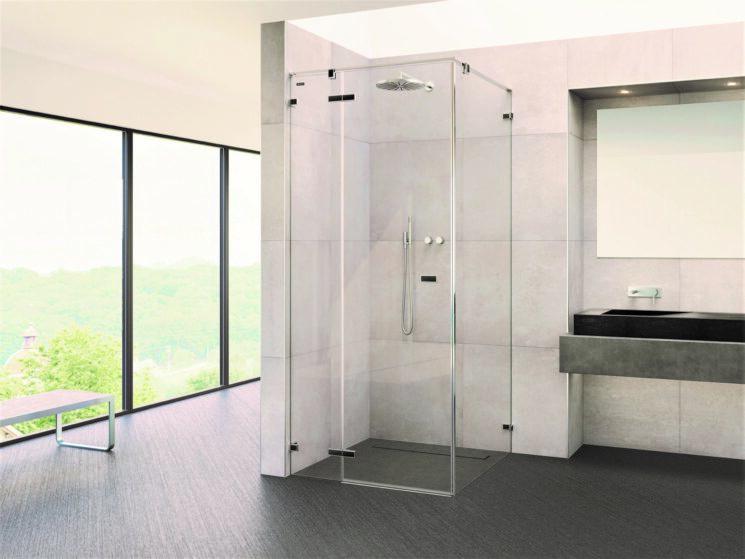 VIVA di DUSCHOLUX, il box doccia con porte a pendolo minimalista