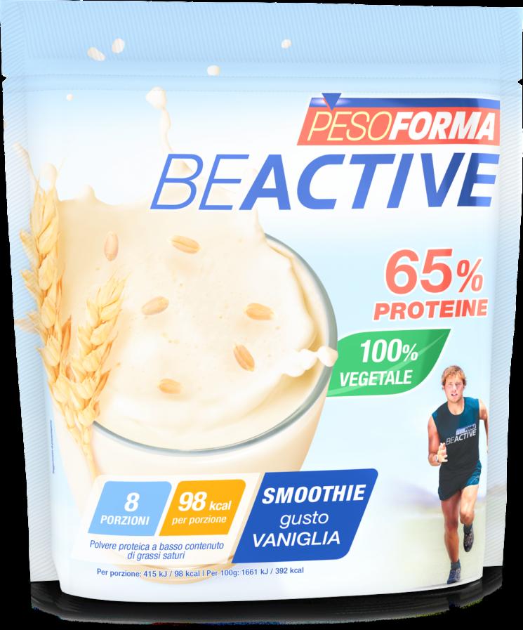 """Con il drink Pesoforma """"Beactive Smoothie 65% proteine"""" gli sportivi fanno il pieno di energia"""