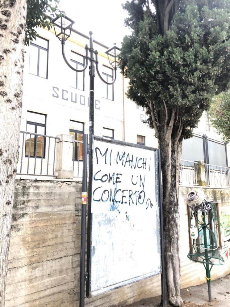 """""""Mi manchi come un concerto"""" dell'artista Gabriele Milani, Mondolfo (PU), 12 febbraio-3 marzo 2021"""