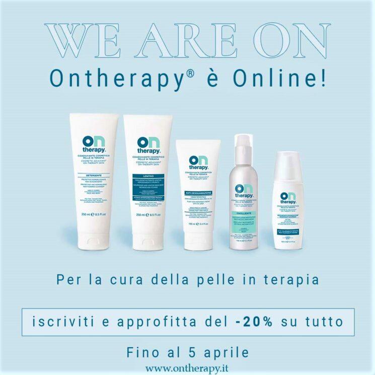 OnTherapy® per la cura della pelle in terapia: nuovo shop online