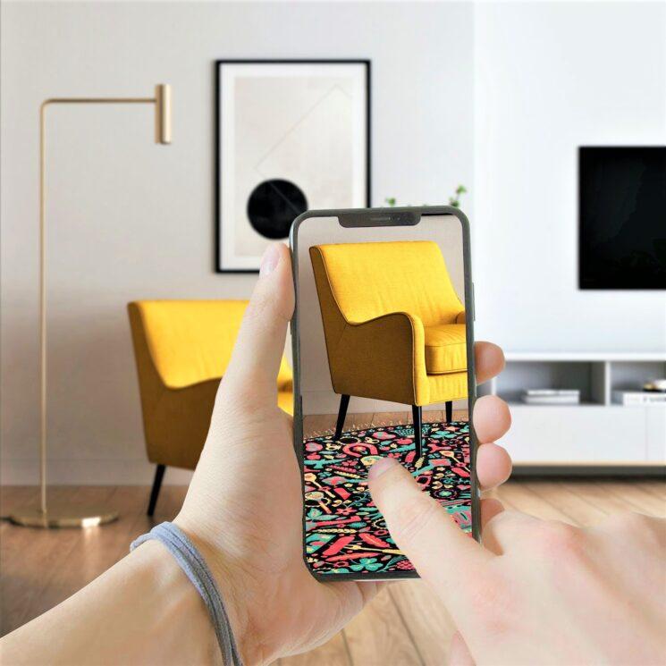 Con la nuova AR, i tappeti di NODUS come a casa