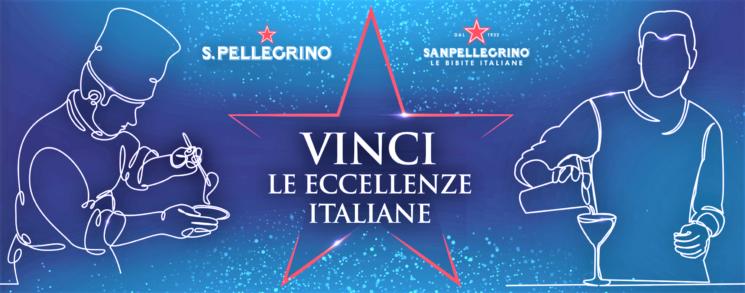 """""""Vinci le eccellenze italiane"""" con Acqua S.Pellegrino e Bibite Sanpellegrino"""