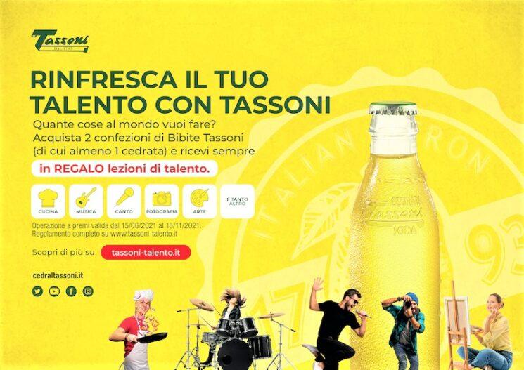 Per l'estate 2021 Tassoni rinfresca il tuo talento con la Cedrata Limited Edition e una speciale promozione