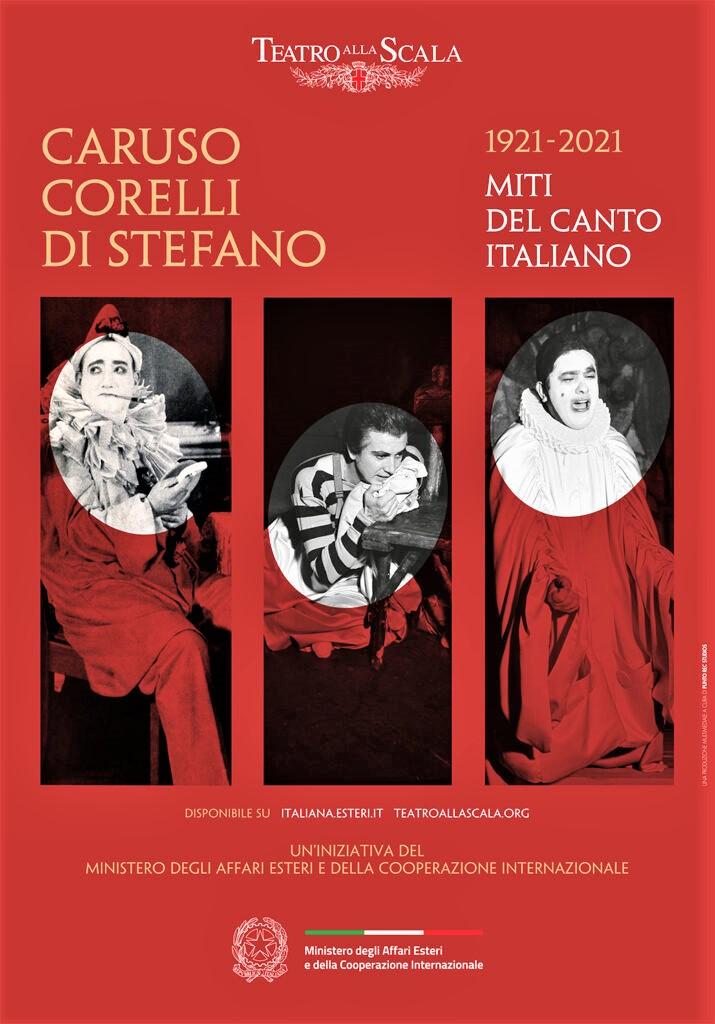 """""""Caruso, Corelli, Di Stefano – Miti del canto italiano"""" online dal 2 agosto 2021"""