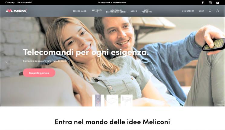È online il sito Meliconi rinnovato