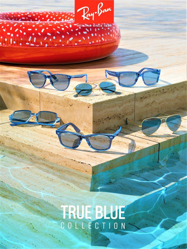 Ray-Ban True Blue collezione in edizione limitata che comprende sei modelli leggendari rivisitati