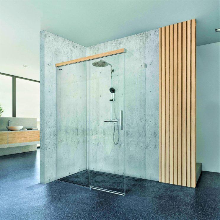 Viva di Duscholux: il contatto con la natura anche nel box doccia