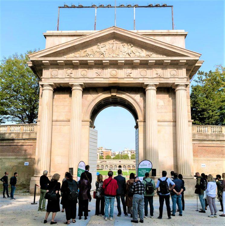 Ristrutturata con il sostegno di Levissima la Porta Trionfale dell'Arena Civica di Milano. Inaugurata oggi